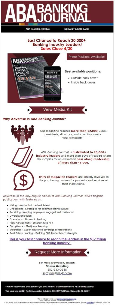 The American Bankers Association Banking journal – Natalia